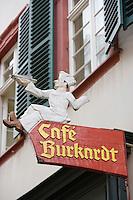 Europe/Allemagne/Bade-Würrtemberg/Heidelberg: Enseigne Café restaurant Burkardt