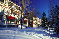 AJ5952, country inn, hotel, inn, Lodge, resort, winter, Middlebury, The Middlebury Inn (a Historic Country Inn) on a sunny day in winter in Middlebury in Addison County in the state of Vermont.