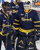 Derek Petti (Merrimack - 10), Collin Delia (Merrimack - 1) - The visiting Merrimack College Warriors defeated the Boston College Eagles 6 - 3 (EN) on Friday, February 10, 2017, at Kelley Rink in Conte Forum in Chestnut Hill, Massachusetts.
