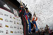 Will Power, Team Penske Chevrolet, Alexander Rossi, Andretti Autosport Honda and Scott Dixon, Chip Ganassi Racing Honda