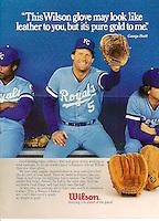 Baseball's George Brett for Wilson Sporting Goods, Leo Burnett Agency, 1984. Photo by John G. Zimmerman.