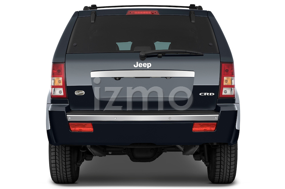 Straight rear view of a 2009 Jeep Grand Cherokee 5 Door