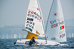 Ryan Palk from Australia in action during the ISAF Sailing World Championships 2014 at the Real Club Maritimo of Santander on September 12, 2014 in Santander, Spain. Photo by Nacho Cubero / Power Sport Images