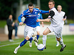 St Johnstone v Inverness Caley Thistle...15.10.11   SPL Week 11.Marcus Haber and David Proctor.Picture by Graeme Hart..Copyright Perthshire Picture Agency.Tel: 01738 623350  Mobile: 07990 594431
