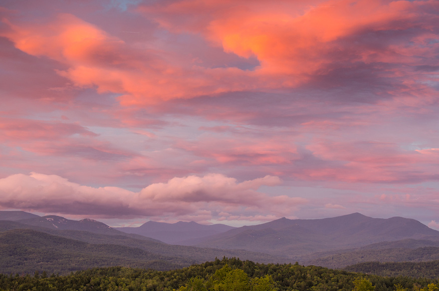 Fire in the sky over the southern White Mountains.