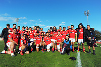 The Poverty Bay team pose for a group photo after the 2021 Heartland Championship rugby match between Whanganui and Poverty Bay at Cooks Gardens in Whanganui, New Zealand on Saturday, 18 September 2021. Photo: Dave Lintott / lintottphoto.co.nz