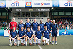 HKFC Chairman's Select (in blue) vs Yau Yee League Masters (in green), during their Masters Tournament match, part of the HKFC Citi Soccer Sevens 2017 on 27 May 2017 at the Hong Kong Football Club, Hong Kong, China. Photo by Marcio Rodrigo Machado / Power Sport Images