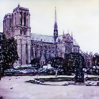 The Notre Dame Cathedral was one of the first Gothic cathedrals, and its construction spanned the Gothic period. Its sculptures and stained glass show the heavy influence of naturalism, unlike that of earlier Romanesque architecture.<br />