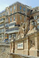 Victoria Gate in Valletta, Malta, Europa, Unesco-Weltkulturerbe