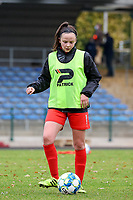 during a female soccer game between FC Femina White Star Woluwe and Sporting Charleroi on the 10 th matchday of the 2020 - 2021 season of Belgian Scooore Womens Super League , Saturday 19 th of December 2020  in Woluwe , Belgium . PHOTO SPORTPIX.BE | SPP | SEVIL OKTEM