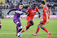 Jose Maria Callejon of ACF Fiorentina , Kalidou Koulibalyand Mario Rui of SSC Napoli compete for the ball during the Serie A 2021/2022 football match between ACF Fiorentina and SSC Napoli at Artemio Franchi stadium in Florence (Italy), October 3rd, 2021. Photo Andrea Staccioli / Insidefoto