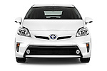 Car photography straight front view of a 2015 Toyota Prius Comfort 5 Door Hatchback Front View