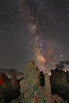 The tufu range with the Milky Way over head, Lee Vining, CA.