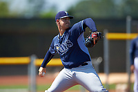 Tampa Bay Rays Reece Karalus (81) during a minor league Spring Training intrasquad game on April 1, 2016 at Charlotte Sports Park in Port Charlotte, Florida.  (Mike Janes/Four Seam Images)