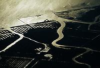 Deutschland, Nordsee, Wattenmeer, Wasser, Fluß fließt in das Meer