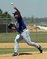 April 1, 2004:  Pitcher Wilson Alavarez of the Los Angeles Dodgers organization during Spring Training at Dodgertown in Vero Beach, FL.  Photo copyright Mike Janes/Four Seam Images