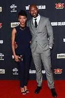 UNIVERSAL CITY, CA, USA - OCTOBER 02: Sonequa Martin-Green, Kenric Green<br />  arrive at the Los Angeles Premiere Of AMC's 'The Walking Dead' Season 5 held at AMC Universal City Walk on October 2, 2014 in Universal City, California, United States. (Photo by David Acosta/Celebrity Monitor)