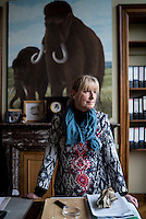 Belgium. Brussels. London. 17th November 2015<br /> Dr. Mietje Germonpré photographed in her office at the Royal Belgian Institute of Natural Sciences.<br /> Andrew Testa for the New York Times