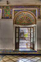 Marrakesh, Morocco.  Bahia Palace Window, 19th. Century.