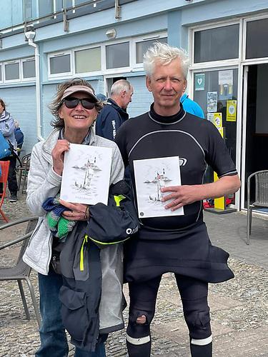 Second in the Silver fleet Brenda Nash and Glen Fischer