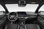 Stock photo of straight dashboard view of 2021 Hyundai i20 N-Performance 5 Door Hatchback Dashboard