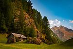 Oesterreich, Tirol, Oetztal - ein Seitental des Inntals: mystische Landschaft mit Huette | Austria, Tyrol, Oetz Valley: mystical scene with hut