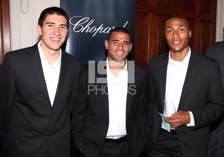 Andrew Quinn, Barry Rice and Jordan Graye of DC United at a reception for AC Milan at DAR Constitution Hall in Washington DC on May 24 2010.