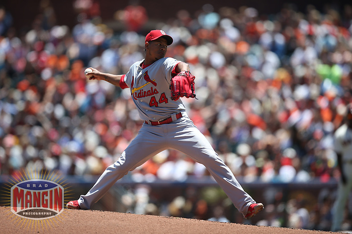 SAN FRANCISCO, CA - JULY 3:  Carlos Martinez #44 of the St. Louis Cardinals pitches against the San Francisco Giants during the game at AT&T Park on Thursday, July 3, 2014 in San Francisco, California. Photo by Brad Mangin