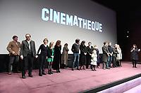 Xavier BEAUVOIS rejoint l'equipe du film sur scene - Avant-Premiere du film LES GARDIENNES de Xavier Beauvois - La Cinematheque francaise - 1 decembre 2017 - Paris - France # AVANT-PREMIERE 'LES GARDIENNES' A PARIS