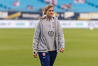 CHARLOTTE, NC - OCTOBER 3: Jill Ellis of the United States walks off the field during a game between Korea Republic and USWNT at Bank of America Stadium on October 3, 2019 in Charlotte, North Carolina.