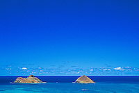 View of Mokulua Islands from Lanikai ridge