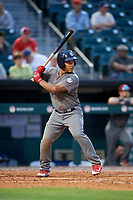 Lehigh Valley IronPigs second baseman Heiker Meneses (3) at bat during a game against the Buffalo Bisons on June 23, 2018 at Coca-Cola Field in Buffalo, New York.  Lehigh Valley defeated Buffalo 4-1.  (Mike Janes/Four Seam Images)