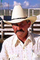 Cowboy Portrait of western lifestyle in Wyoming US