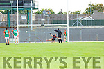 Gavan O'Grady  Mid Kerry sends the  Kenmare keeper Kieran Ftzgibbon the wrong way to scre the match winning goal during their SFC quarter final in Fitzgerald Stadium on Sunday