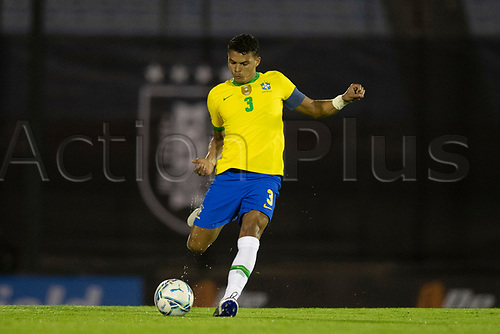 17th November 2020; Centenario Stadium, Montevideo, Uruguay; Fifa World Cup 2022 Qualifying football; Uruguay versus Brazil;  Thiago Silva of Brazil
