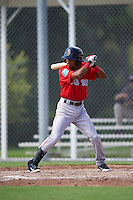 Boston Red Sox Kervin Suarez (16) during an Instructional League game against the Minnesota Twins on September 24, 2016 at CenturyLink Sports Complex in Fort Myers, Florida.  (Mike Janes/Four Seam Images)