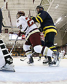 Paul Carey (BC - 22), Fraser Allan (Merrimack - 2) - The Boston College Eagles defeated the Merrimack College Warriors 4-3 on Friday, October 30, 2009, at Conte Forum in Chestnut Hill, Massachusetts.