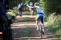 Flat tire for Piet Allegaert (BEL/Sport Vlaanderen-Baloise)<br /> <br /> Dwars door het Hageland (1.1)<br /> 1 Day Race: Aarschot > Diest (194km)