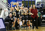 Faith Lutheran celebrates a three-pointer against Spring Valley in the NIAA Division I-A state basketball championship in Reno, Nev. on Saturday, Feb. 27, 2016. Faith Lutheran won 50-47. Cathleen Allison/Las Vegas Review-Journal