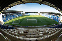 An unusual all round view of the stadium during Colchester United vs Marine, Emirates FA Cup Football at the JobServe Community Stadium on 7th November 2020