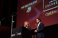 Picture by Simon Wilkinson/SWpix.com 01/122019 -  Rose d'Or 2019 Award Ceremony, red carpet arrivals and winners. Kings Place, London<br /> - Sanne Wohlenberg ,Chris Fry Chernobyl