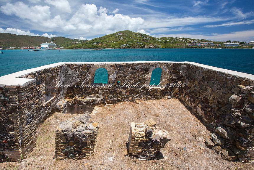 Hassel Island and ruins<br /> US Virgin Islands
