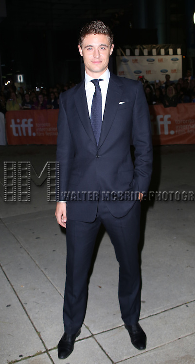 Max Irons attending the 'The Riot Club' red carpet arrivals during the 2014 Toronto International Film Festival at the Roy Thomson Hall on September 6, 2014 in Toronto, Canada.