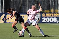 BERKELEY, CA - October 20, 2016: Cal Bears women's soccer team vs. the Utah Utes at Goldman Field. Final score, Cal Bears 1, Utah Utes 1.