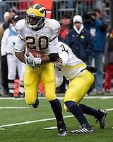 November 22, 2008. Michigan running back Michael Shaw. The Ohio State Buckeyes defeated the Michigan Wolverines 42-7 on November 22, 2008 at Ohio Stadium, Columbus, Ohio.