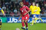 Nationwide Friendly International Wales v Sweden at the Liberty Stadium in Swansea : Wales' Robert Earnshaw...