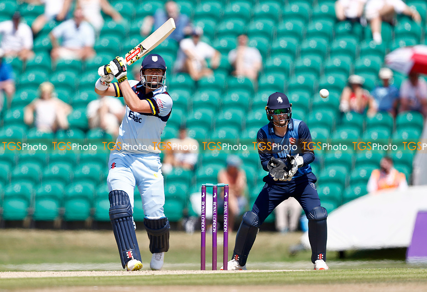 Alex Lees bats for Durham during Kent Spitfires vs Durham, Royal London One-Day Cup Cricket at The Spitfire Ground on 22nd July 2021