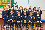 The junior infants class of Mrs Galvin in Aughacasla NS.