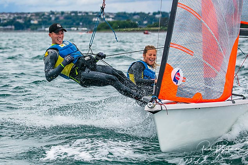 Lola and Atlee Kohl won four races to claim the Irish 29er title at Crosshaven