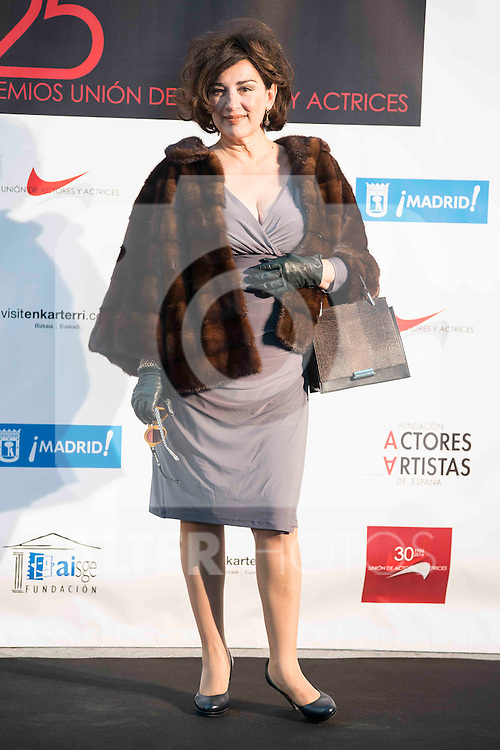 25th anniversary Union Actores y Actrices Awards at Cibeles Palace in Madrid, February 17, 2016. (ALTERPHOTOS/BorjaB.Hojas)
